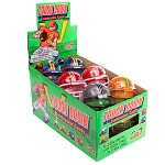 Kidsmania Touch Down Jawbreaker Football Novelty Candy Toy, (Pack of 12)