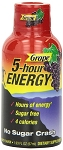 5 Hour Energy Drink Grape Flavor 2 Ounce Bottles, (Pack of 12)