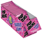 Pop Rocks Bubble Gum Popping Gum, (Pack of 24)