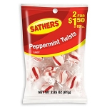 Sathers Peppemrint Twists, (Pack of 12)