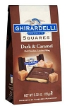 Ghirardelli Dark Chocolate and Caramel Candies 5.32 Ounce Bags, (Pack of 12)