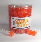 Orange Cube Lollipops, (Pack of 100)