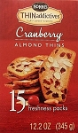 Nonnis Thin Addictives Cranberry Almond Thins, (Pack of 15)