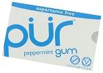 Pur Peppermint Gum 9 Piece Packs, (Pack of 12)