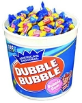 Dubble Bubble Twist Bubble Gum, (Pack of 180)