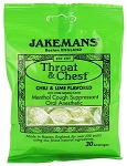 Jakemans Lime Throat Lozenges 30 Piece Bags, (Pack of 12)