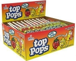 Top Pops Strawberry Lemon Chewy Taffy Candy, (Pack of 48)