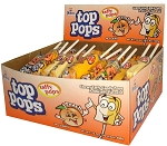Top Pops Peach Chewy Taffy Candy, (Pack of 48)