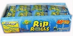 Sour Rip Rolls Blue Raspberry, (Pack of 24)