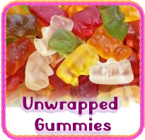 Unwrapped Gummy Candy
