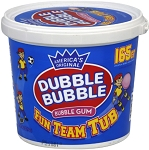 Dubble Bubble Original Fun Team Tub Bubble Gum, (Pack of 165)