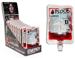 Blood Bag Candy Fruit Punch Flavored Liquid Candy (Pack of 12)