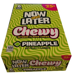 Now and Later Chewy Pineapple Candy, (Pack of 24)