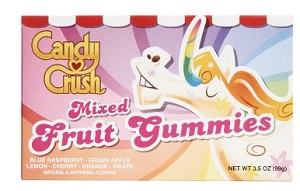 Candy Crush Fruit Gummies Movie Theater Size Candy, (Pack of 12)