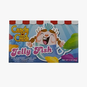 Candy Crush Jelly Fish Gummies Movie Theater Size Candy, (Pack of 12)
