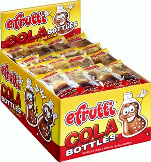 E-Frutti Cola Bottles Gummy Candy, (Pack of 80)