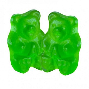 Albanese Granny Smith Green Gummy Bears, 5 Pounds