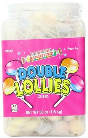 Smarties Double Lollies, (Pack of 200)