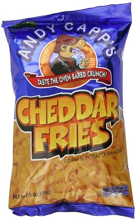 Andy Capp Cheddar Fries, 3 Oz (12 Pack)