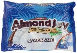 Almond Joy Snack Size Candy Bars, (Pack of 12)