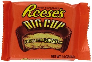 Reeses Big Cup Peanut Butter Cups, (Pack of 16)