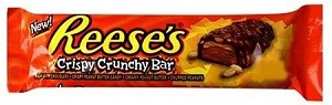 Reeses Crispy Crunchy Bars, (Pack of 18)