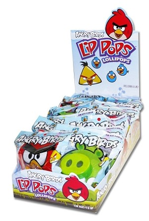 Angry Birds Lip Pops, (Pack of 12)
