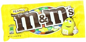 M and M Peanut Candy, (Pack of 48)