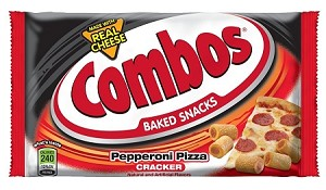 Combos Pepperoni Pizza Cracker Snacks, (Pack of 18)