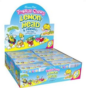 Tropical Chewy Lemonhead Candy, (Pack of 24)