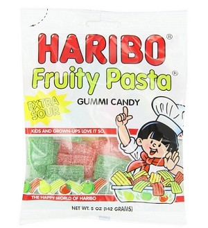 Haribo Fruity Pasta, 5 Ounce Bags (Pack of 12)