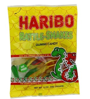 Haribo Rattle Snakes, 5 Ounce Bags (Pack of 12)