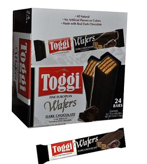 Toggi Imported Dark Chocolate Wafers, (Pack of 24)