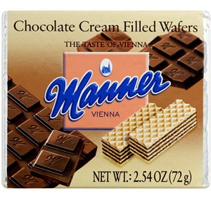 Manner Chocolate Cream Wafers, (Pack of 12)
