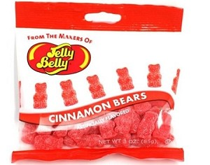 Jelly Belly Hot Cinnamon Bears, (Pack of 12)