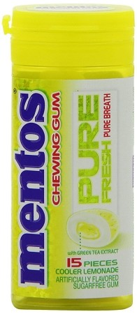Mentos Pure Fresh Lemonade Gum, (Pack of 10)