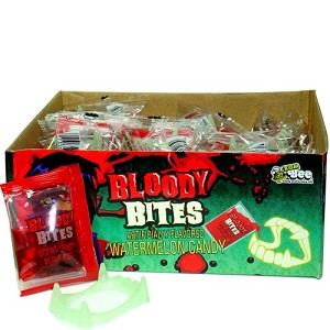 Bloody Bites Bleeding Candy Fangs (Pack of 24)