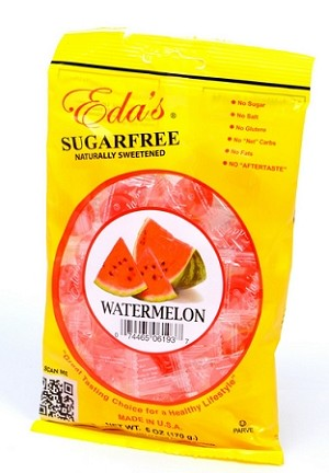 Eda's Sugar Free Watermelon Candy, 3.5 Ounce Bags (Pack of 12)