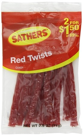 Sathers Red Twists, (Pack of 12)