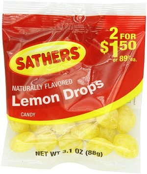 Sathers Lemon Drops, (Pack of 12)