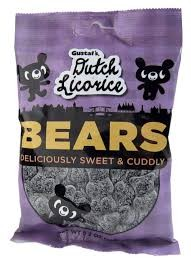 Gumbilees Sugared Licorice Gummy Bears (Pack of 12)