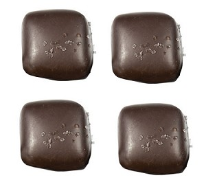 Asher's Dark Chocolate Covered Vanilla Caramels With Sea Salt, 6 Pounds