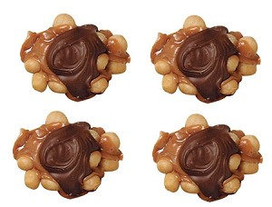 Asher's Jumbo Milk Chocolate Praline Macadamia Clusters, 3 Ounces (Pack of 15)