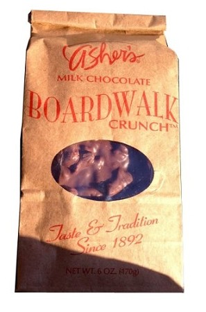 Asher's Milk Chocolate Boardwalk Crunch 6 Ounce Bags, (Pack of 12)