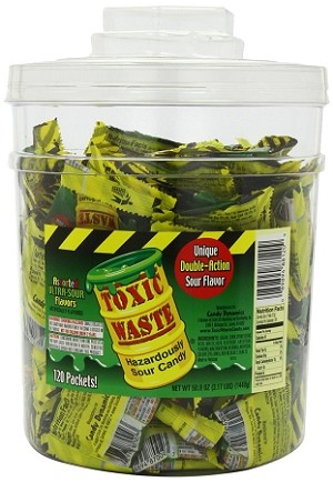Toxic Waste Candy, 120 Count Tub