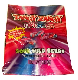 Tangy Zangy Twisties, Sour Wild Berry Flavor, (Pack of 36)