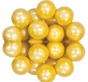 Oak Leaf Shimmering Yellow One Inch Gumballs, (Pack of 720)