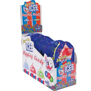 Icee Popping Candy With Lollipops (Pack of 18)