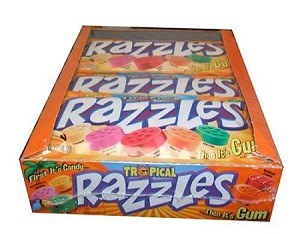 Tropical Razzles Candy, (Pack of 24)