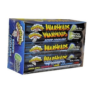 Warheads Sour Coolers, (Pack of 15)